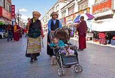 Tibetan pilgrims Royalty Free Stock Photography