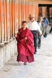 Tibetan pilgrims at Labrang monastary in 2015 Stock Photo