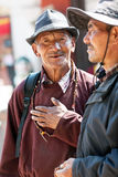 Tibetan pilgrims, Nepal Royalty Free Stock Photo