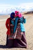Tibetan pilgrims Stock Photography