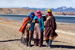 Tibetan pilgrims Royalty Free Stock Photo