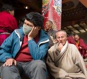 Tibetan Pilgrims Royalty Free Stock Photos