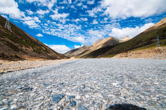 Tibetan Plateau. Mountains and blue sky on tibetan plateau stock images
