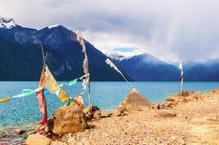 Tibetan plateau scene-Basum Lake Stock Images