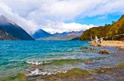 Tibetan plateau scene-Basum Lake Royalty Free Stock Photo