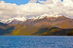 Tibetan plateau scene-Basum Lake Royalty Free Stock Image