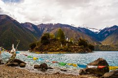 Tibetan plateau scene-Basum Lake Stock Photos