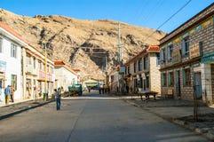 Tibetan plateau scene-County town of Nagarze (Langkazi) royalty free stock image