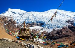 Tibetan plateau scene- Glacier Kanola Royalty Free Stock Photo
