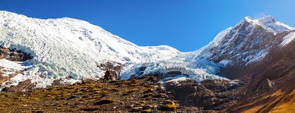 Tibetan plateau scene- Glacier Kanola Stock Photo