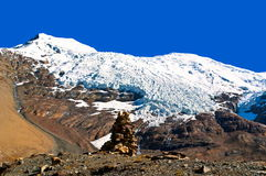 Tibetan plateau scene- Glacier Kanola Stock Photography