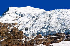 Tibetan plateau scene-Glacier Kanola Royalty Free Stock Images