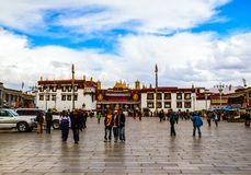 Tibetan plateau scene-Jokhang(Dazhao) Temple Royalty Free Stock Photos