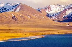 Tibetan plateau scene-lake Namtso Royalty Free Stock Images