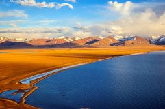 Tibetan plateau scene-lake Namtso Stock Photo