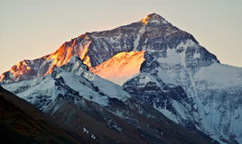 Tibetan plateau scene-Morning sunshine on the Everest (Mount Qomolangma)and lhotse Royalty Free Stock Image