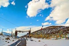 Tibetan Plateau scene-mountain pass stock image