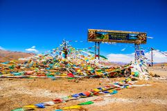 Tibetan plateau scene-Mt. Qomolangma(Everest) National Nature Reserve Stock Photos