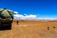 Tibetan plateau scene-Mt. Qomolangma(Everest) National Nature Reserve Stock Photos