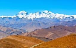Tibetan plateau scene-Overlook Cho Oyo Stock Image