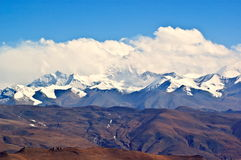 Tibetan Plateau Scene-Overlook Everest(Mt. Qomolangma) Stock Image