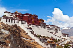 Tibetan plateau scene-Potala Palace Stock Photo