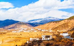 Tibetan plateau scene Royalty Free Stock Images