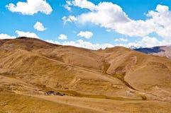 Tibetan plateau scene. Taken in the way go to Everest stock photos