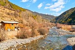 Tibetan Plateau scene. Taken in the way from shangrila of Yunnan to Daocheng of sichuan China Royalty Free Stock Photography
