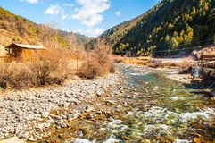 Tibetan Plateau scene. Taken in the way from shangrila of Yunnan to Daocheng of sichuan China Stock Photography