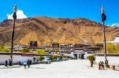 Tibetan plateau scene-Tashilhunpo Monastery. Tashilhunpo Monastery (Tibetan), founded in 1447 by Gendun Drup, the First Dalai Lama is a historic and culturally Stock Image