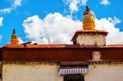 Tibetan plateau scene-Tibetan folk house Royalty Free Stock Image
