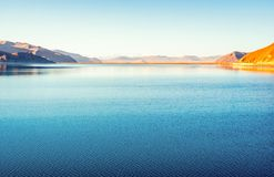 Tibetan plateau scene-Yamzho Yumco(yangzhoyong lake) Stock Photos