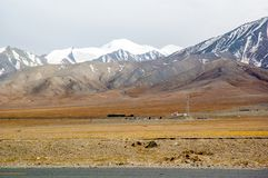 Tibetan plateau scene-Yuzhu Peak Stock Photo