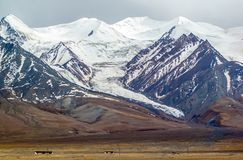 Tibetan plateau scene-Yuzhu Peak Royalty Free Stock Photo