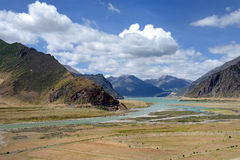 Tibetan plateau scenery Stock Photo