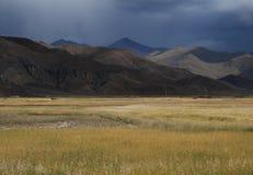 Tibetan platteland royalty-vrije stock afbeeldingen