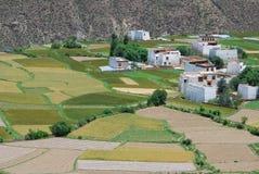 Tibetan platteland Royalty-vrije Stock Foto's