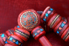Tibetan prayer beads Stock Image