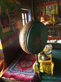 Tibetan Prayer Drum at Mulbek Monastery, Leh, Royalty Free Stock Photography