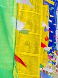Tibetan Prayer Flag for Faith, peace, wisdom, compassion, and st. Rength, Sikkim State in India, 15th April, 2013 Stock Photography