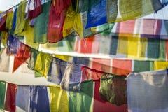 Tibetan prayer flag, Nepal Stock Photography