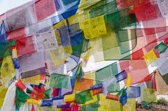 Tibetan prayer flag, Nepal Royalty Free Stock Images