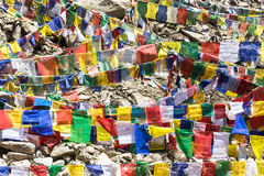 Tibetan prayer flags Royalty Free Stock Images