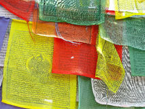 Tibetan Prayer Flags (Detail). A close up of Tibetan Prayer Flags Stock Image