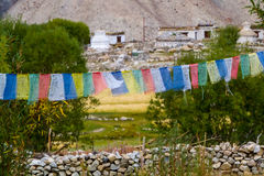 Tibetan prayer flags Stock Image