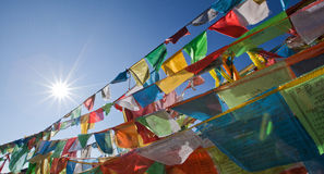 Tibetan prayer flags Stock Image