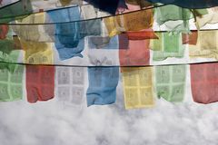 Tibetan Prayer Flags in Lhasa Royalty Free Stock Photo
