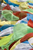 Tibetan Prayer Flags in Lhasa Royalty Free Stock Photos