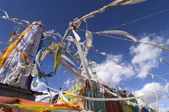 Tibetan Prayer Flags in Lhasa Royalty Free Stock Image